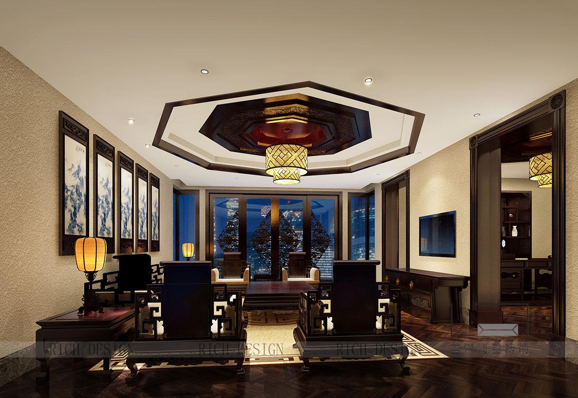 别墅装修中式风格以宫廷建筑为代表的中国古典建筑的室内装饰设计