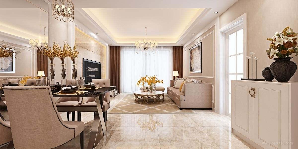 欧式客厅装修设计效果图