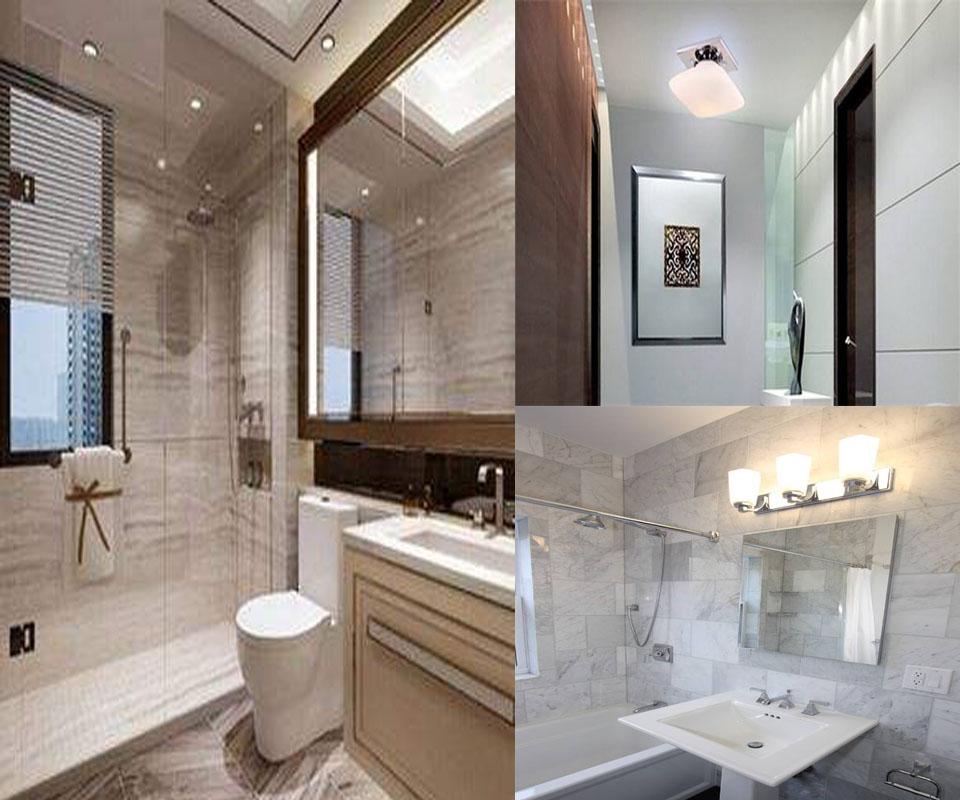 别墅装修浴室灯具设计,凝练出优雅的灯光艺术图片