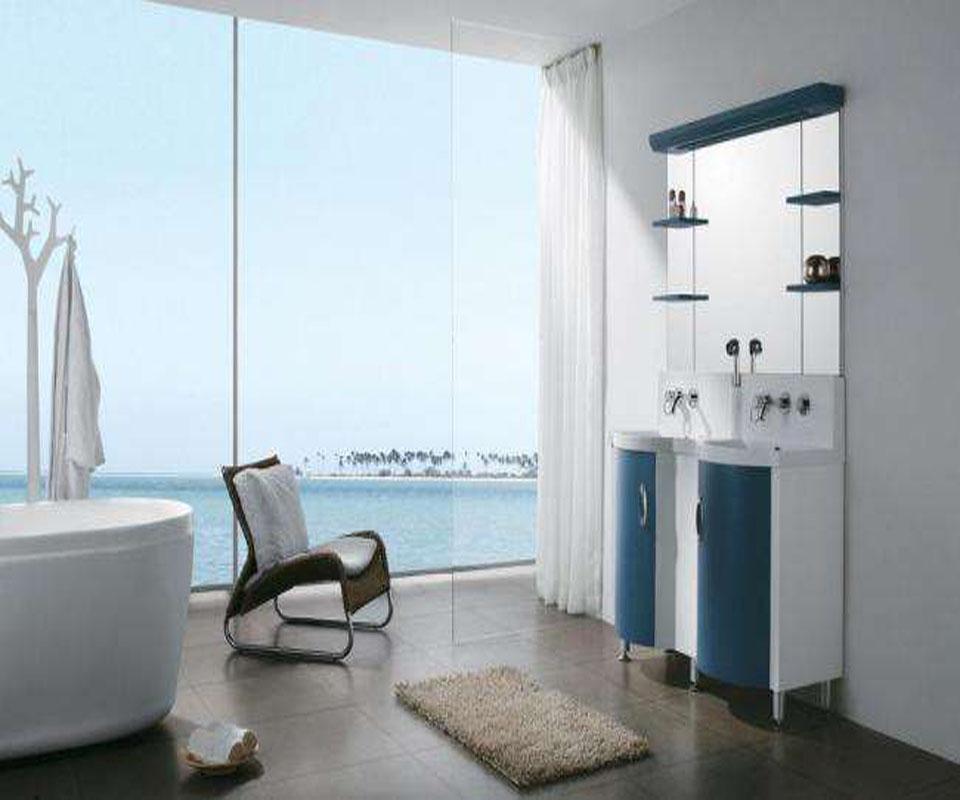 别墅卫浴室窗户装饰设计效果图
