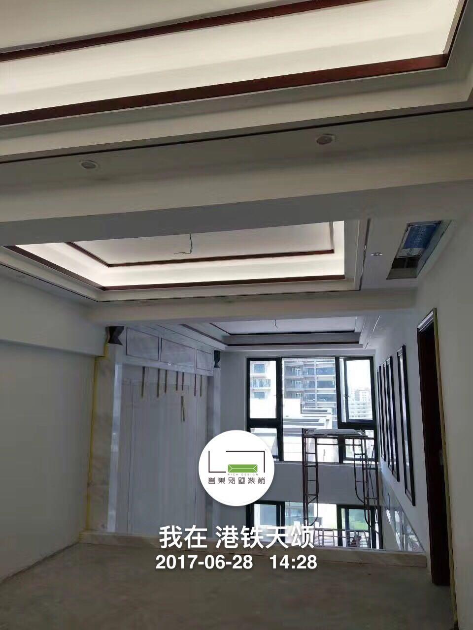 港铁天颂中式吊顶2装修实景图
