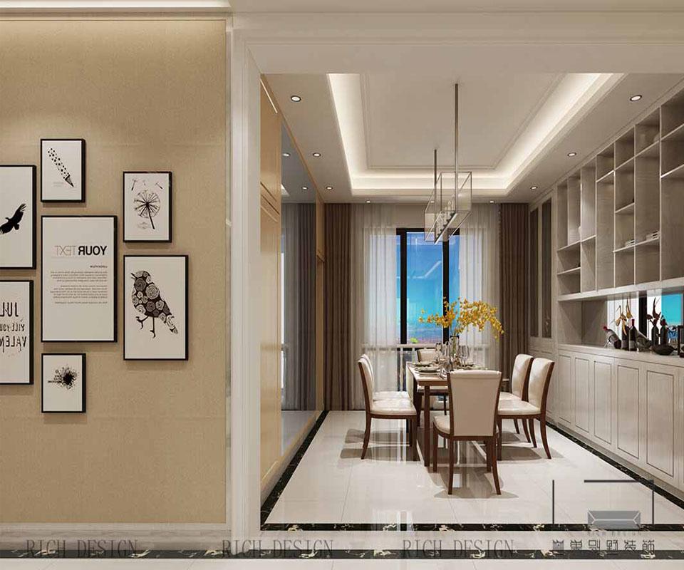 别墅现代餐厅装饰效果图