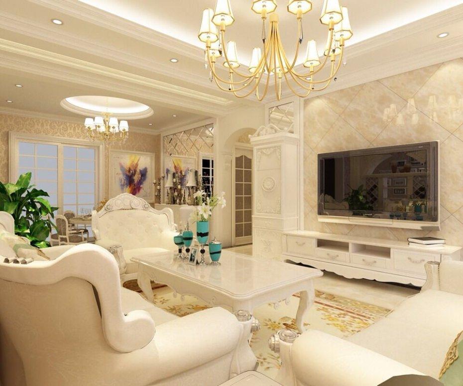 欧式风格带有浓厚的早期欧洲气息,在现代简约大行其道之前是最长见的别墅装修风格,它在形式上以浪漫主义为基础,爱用轻快纤细的曲线装饰,效果富丽典雅。  古典风格别墅装修之客厅效果图3