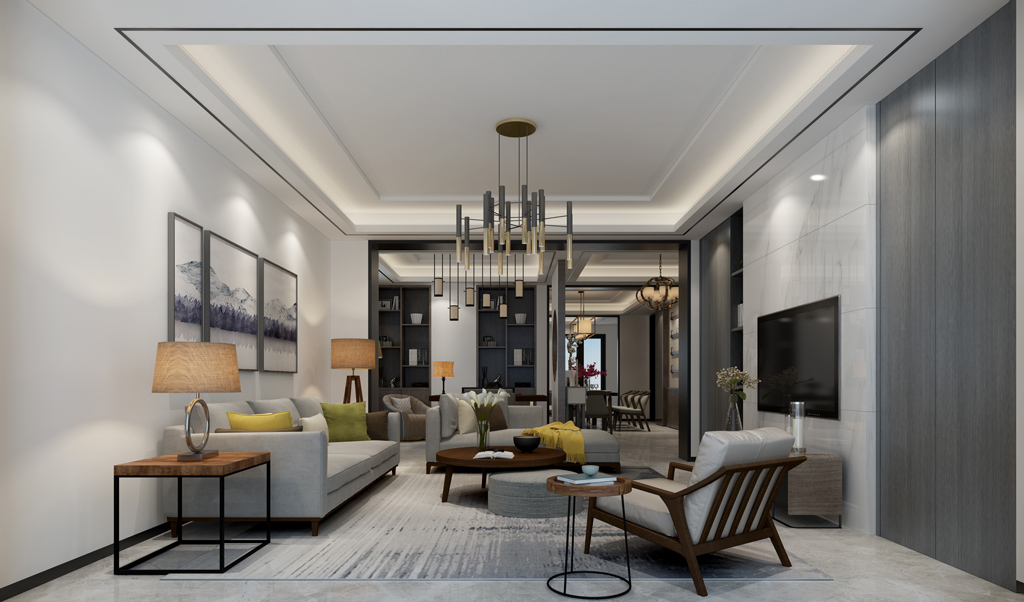 别墅现代室内装饰效果图