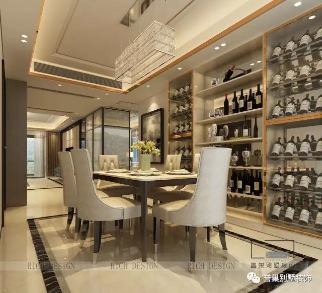 别墅现代餐厅装潢设计效果图