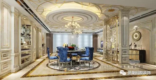 别墅欧式餐厅装修设计风格1