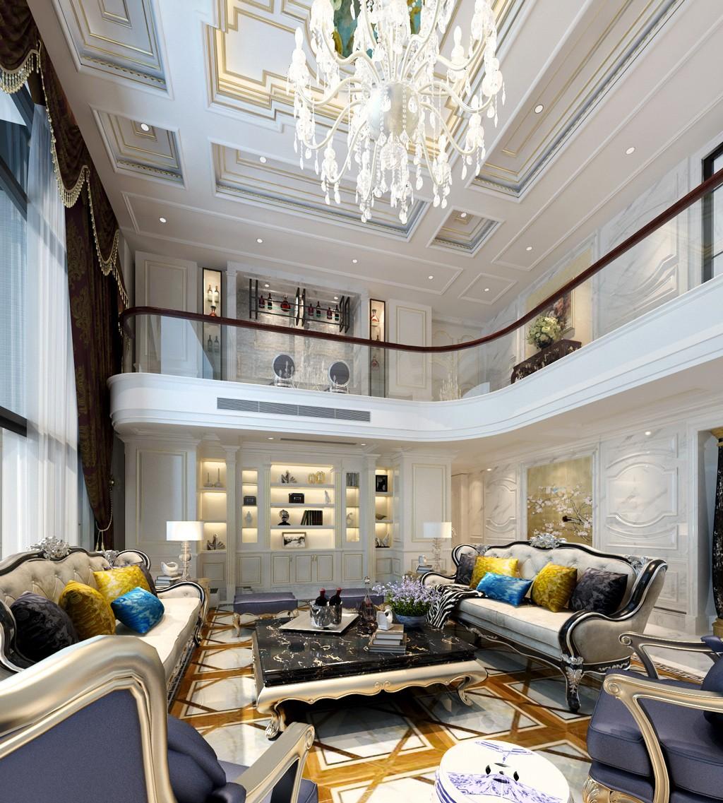 别墅欧式客厅装修效果图
