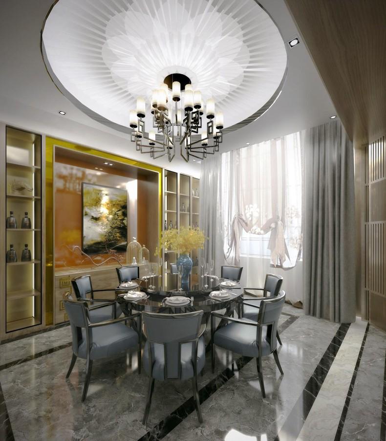 本案充分体现了家所涵盖承载的并非仅限于物质,尚且包括非物质的抽象需求。别墅装饰呈现较多元化的状态,经过跟客户的多次沟通,最后确定为现代风,他不是胡乱堆砌,而是经过精心的挑选,将风格协调的装修元素进行相互搭配。  别墅装饰之现代客厅设计风格 别墅装饰设计上采用主次分明的装修手法,显得空间更为协调。通过以现代装修风格为主,局部或则细节的处理,加现代感装修设计元素,以此凸显空间与装饰的层次感。 别墅装饰现代风格,客厅在满足使用功能的基础上,设计师采用了灰色的护墙背景与深灰木质壁炉的结合,金属、木质、石材肌