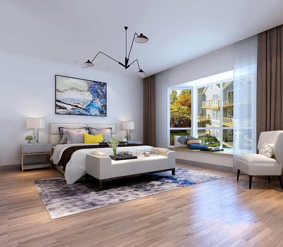 本案例设计师采用现代简约别墅装修设计风格从点,线,面勾勒轮廓,从