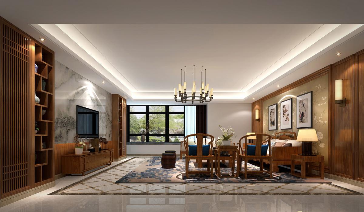 别墅装修设计,如何布置中式客厅装饰风水呢?