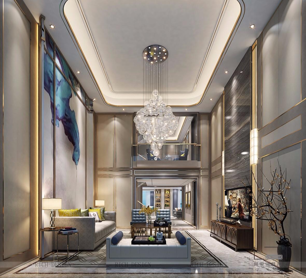 > 别墅装饰现代风格,将中式风情融入空间设计中   别墅装潢室内软装设