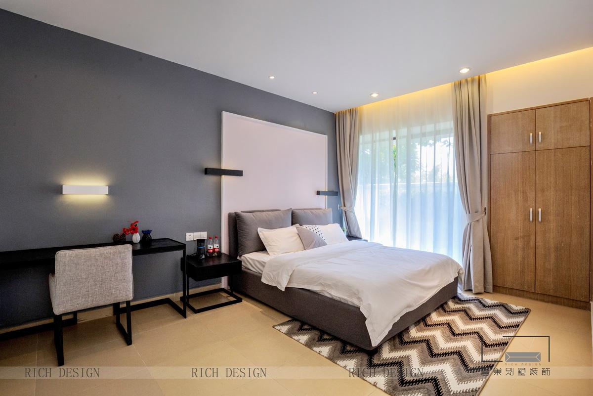 英德酒店别墅卧室角度装饰实景图
