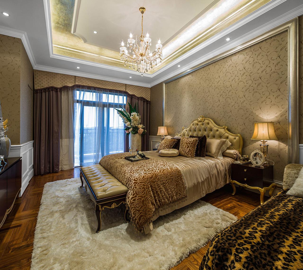 别墅欧式卧室装饰效果图