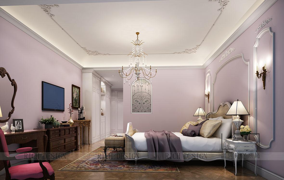 别墅装饰混搭卧室效果图