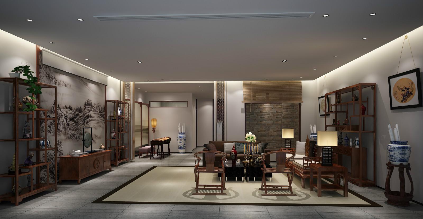 中式会客厅装饰效果图