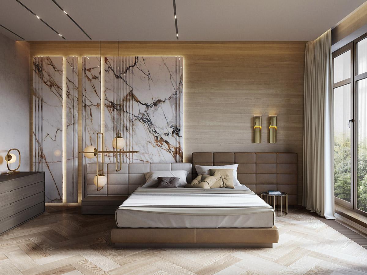 背景墙 床 房间 家居 家具 起居室 设计 卧室 卧室装修 现代 装修 120