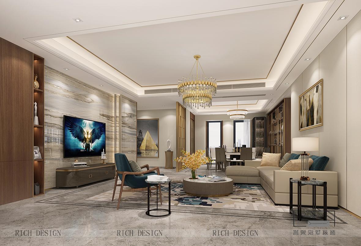 随着房价日益上升,人们生活水平的质量也越来越重视,别墅装修空间提倡舒适与实用性共存的层次感。现代装修风格往往受大众的喜爱,设计艺术与建筑学、文化品位相互兼容,打造一个精致别墅装修设计空间。下面深圳装修公司小编跟大家一起来看看装饰设计效果图。  客厅 现代装修风格中,百搭白、中庸灰、炫酷黑这些颜色,总是可以让整个空间展现出一种非常高冷的气质。