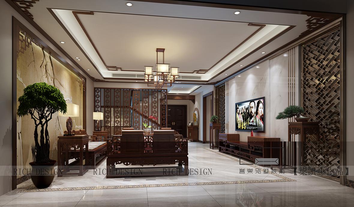 别墅一楼客厅装修效果图