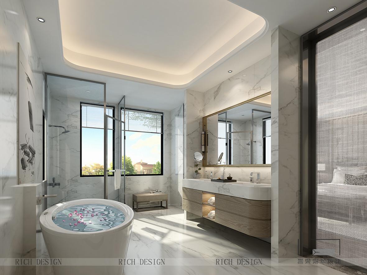 【誉巢装饰】华侨城别墅装修设计,彰显中式住宅的如虹