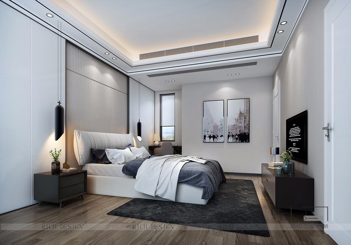 港铁天颂现代卧室装饰效果图