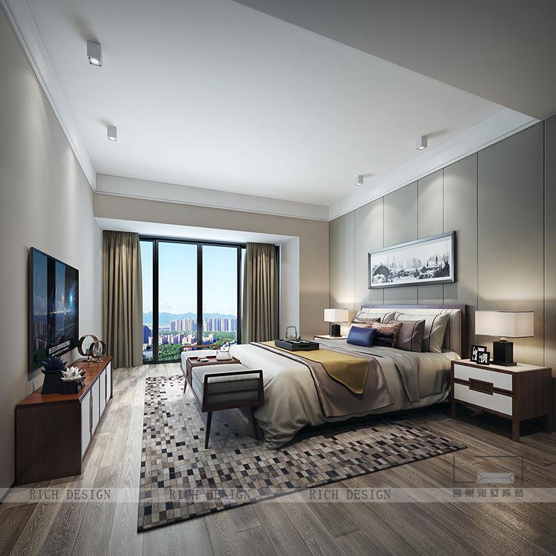 现代别墅卧室装修风格三
