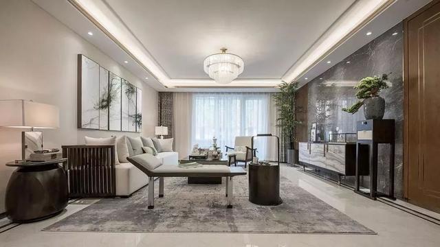 现代中式客厅装饰效果图