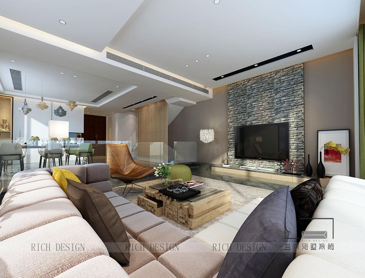 別墅現代客廳裝飾效果圖