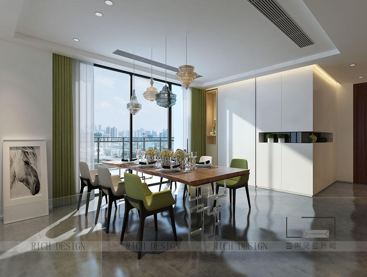 別墅現代餐廳裝飾效果圖