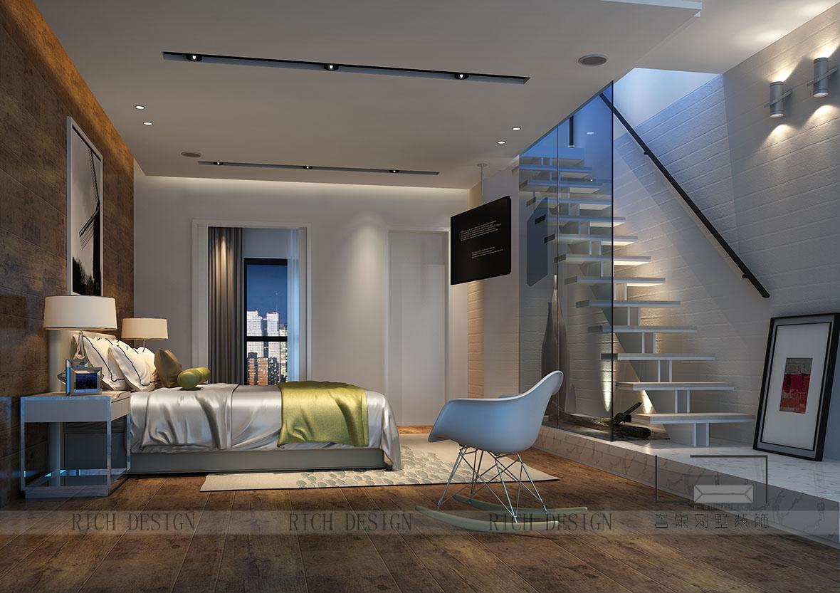 別墅現代臥室裝飾效果圖