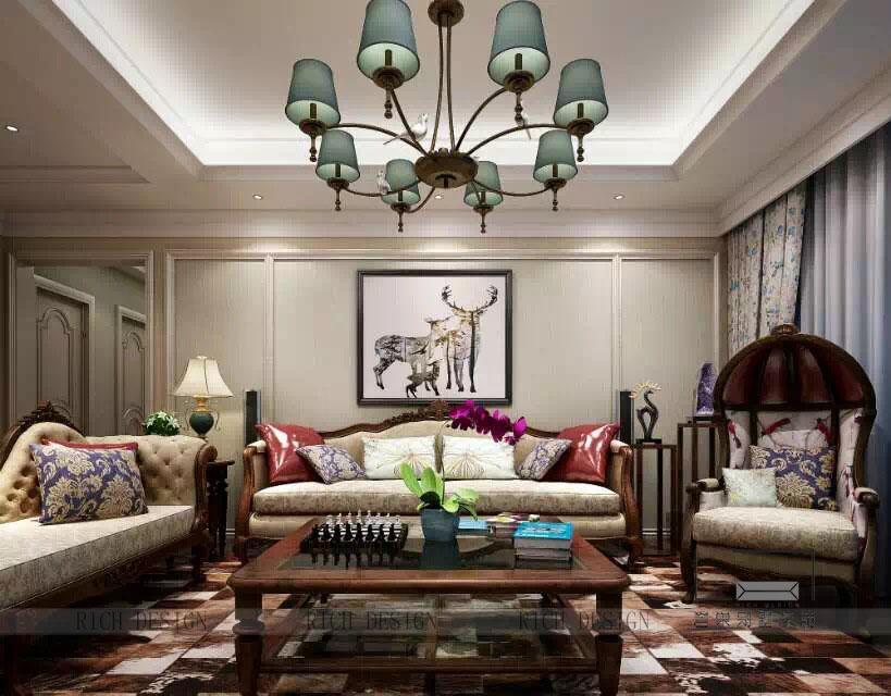 美式客廳2裝修效果圖