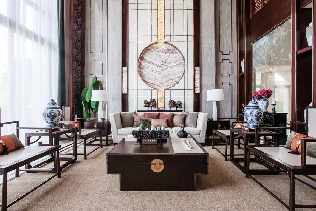 【譽巢裝飾】中式別墅裝修古韻古香的設計效果,美翻了