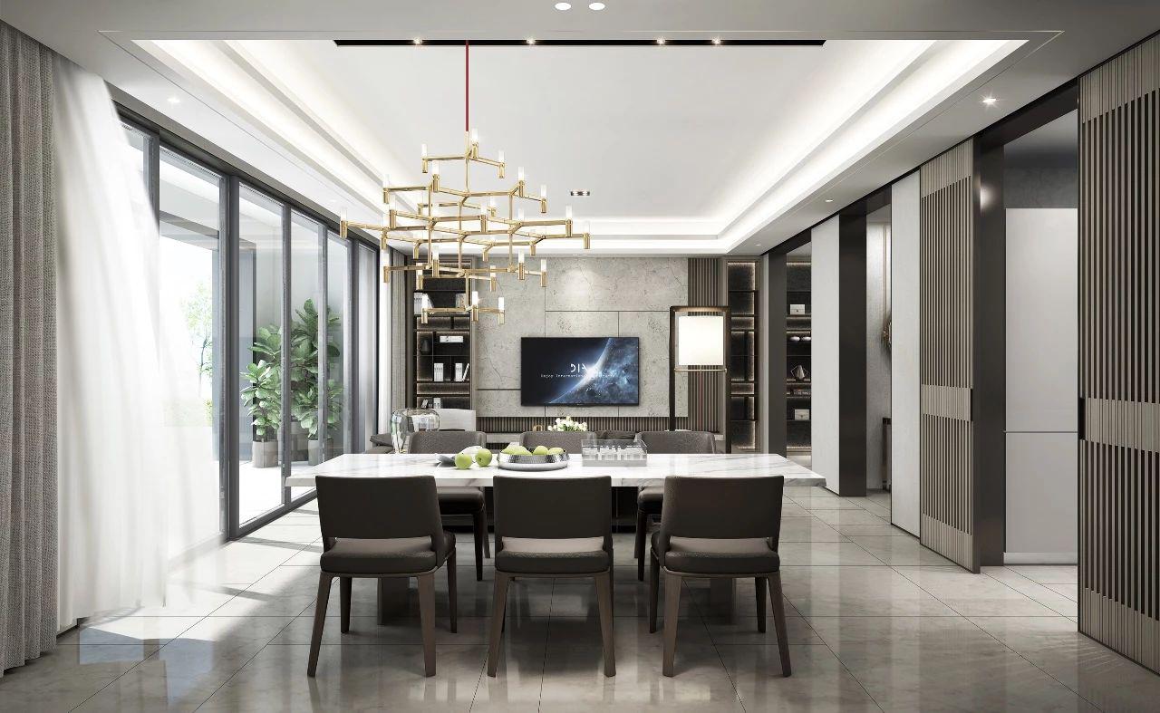 现代装修设计风格简洁,实用性,功能强注重空间的自由个性的搭配,极